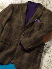 100% Wool Notch Lapel Sport Coat