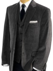 100% Cotton Velvet Houndstooth Notch Lapel Sport Coat
