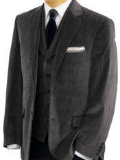100% Cotton Velvet Houndstooth Notch Lapel Sport Coat