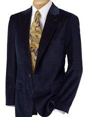 100% Cotton Velvet Single-Button Peak Lapel Pindot Sport Coat