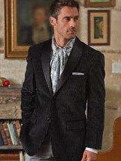 100% Cotton Velvet Two-Button Shawl Collar Stripe Sport Coat