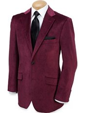 Velvet Two-Button Notch Lapel Paisley Sport Coat
