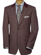 100% Wool Two-Button Notch Lapel Donegal Sport Coat