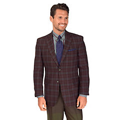 Multi-color Plaid Pure Wool Sport Coat $255.00 AT vintagedancer.com