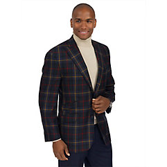 Green Tartan Plaid Pure Wool Sport Coat $260.00 AT vintagedancer.com