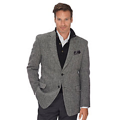 1960s Style Mens Suits- Skinny Suits, Mod Suits, Sport Coats Authentic Harris Tweed Black  White Herringbone Pure Wool Sport Coat $250.00 AT vintagedancer.com