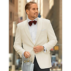 1940s Men's Suit History and Styling Tips Ivory Solid Velvet Sport Coat $214.00 AT vintagedancer.com
