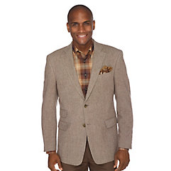 1950s Style Mens Suits Camel  White Herringbone Pure Wool Sport Coat $214.00 AT vintagedancer.com
