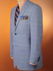 100% Wool Two-Button Checked Sportcoat