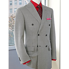Black  White Houndstooth Wool  Silk Sport Coat $160.00 AT vintagedancer.com