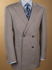 Men's Wool & Linen Double-Breasted Sport Coat
