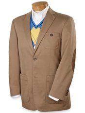 Cotton Twill Two-Button Sport Coat