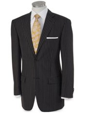 Linen & Wool Two-Button Notch Lapel Stripe Sport Coat