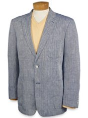 Herringbone Texture Linen Two-Button Soft Coat