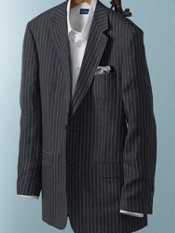 Linen Two-Button Stripe Sport Coat