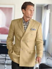 Italian Linen Double-Breasted Sport Coat
