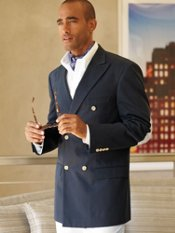 Brushed Cotton Twill Double-Breasted Sport Coat