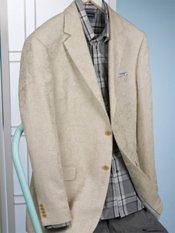Linen & Cotton Two-Button Notch Lapel Paisley Sport Coat