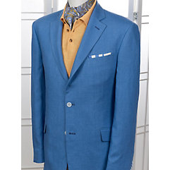 Solid French Blue Pure Linen Sport Coat