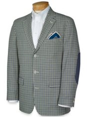 Gingham Cotton Three-Button Sportcoat