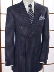 Linen Stripe Double-Breasted Sport Coat