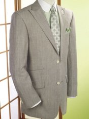 Linen & Wool Stripe Two-Button Sport Coat