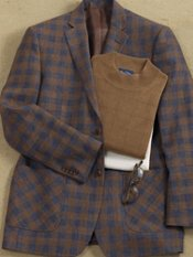 Linen Plaid Two-Button Sport Coat