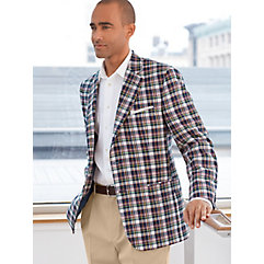 Pure Cotton Madras Sport Coat $130.00 AT vintagedancer.com