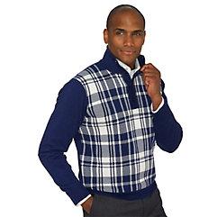 1960s Men's Sweaters 100 Cotton Plaid Button Mock Neck Sweater $75.00 AT vintagedancer.com