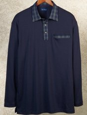 100% Cotton Long Sleeve Polo