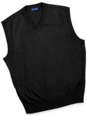 Silk, Cotton & Cashmere Solid V-Neck Sweater Vest