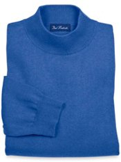 Silk, Cotton & Cashmere Mock Collar Sweater
