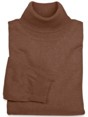 Silk, Cotton & Cashmere Solid Turtleneck Collar Sweater