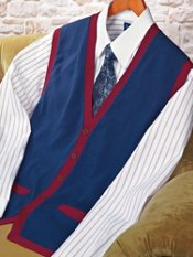 100% Cotton Solid Cardgian Sweater Vest