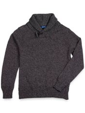 100% Cotton Shawl Collar Sweater