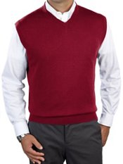 Silk, Cotton, & Cashmere V-Neck Sweater Vest