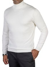 Silk, Cotton, & Cashmere Turtleneck Sweater
