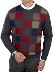 Wool & Cotton Colorblock Crew Neck Sweater