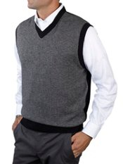 Wool & Cashmere Herringbone V-neck Sweater Vest