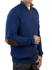 100% Cotton Cable Mock Collar Sweater