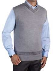 Wool Blend V-neck Sweater Vest