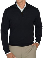 Italian Extra Fine Merino Wool Half Zip Pullover Sweater
