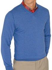 Italian Extra Fine Merino Wool V-neck Pullover Sweater