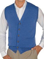 Italian Extra Fine Merino Wool Button Front Sweater Vest