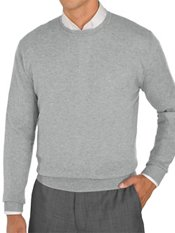 100% Cashmere Solid Crewneck Pullover Sweater