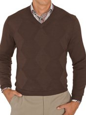 100% Cotton Textured V-Neck Sweater