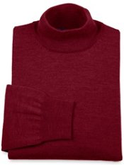 Merino Wool Blend Mock Collar Sweater