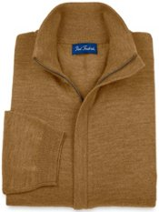 Merino Wool Blend Full Zip Cardigan Sweater
