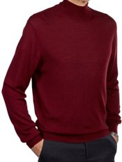 Merino Wool Blend Mock Neck Sweater