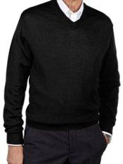Merino Wool Blend V-neck Sweater